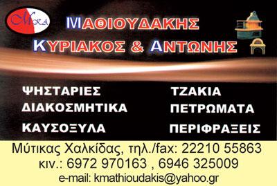 ΜΑΘΙΟΥΔΑΚΗΣ ΚΥΡΙΑΚΟΣ & ΑΝΤΩΝΗΣ